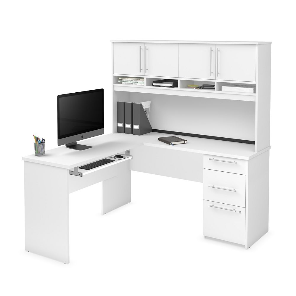 Bestar Innova Plus L-shaped desk in White