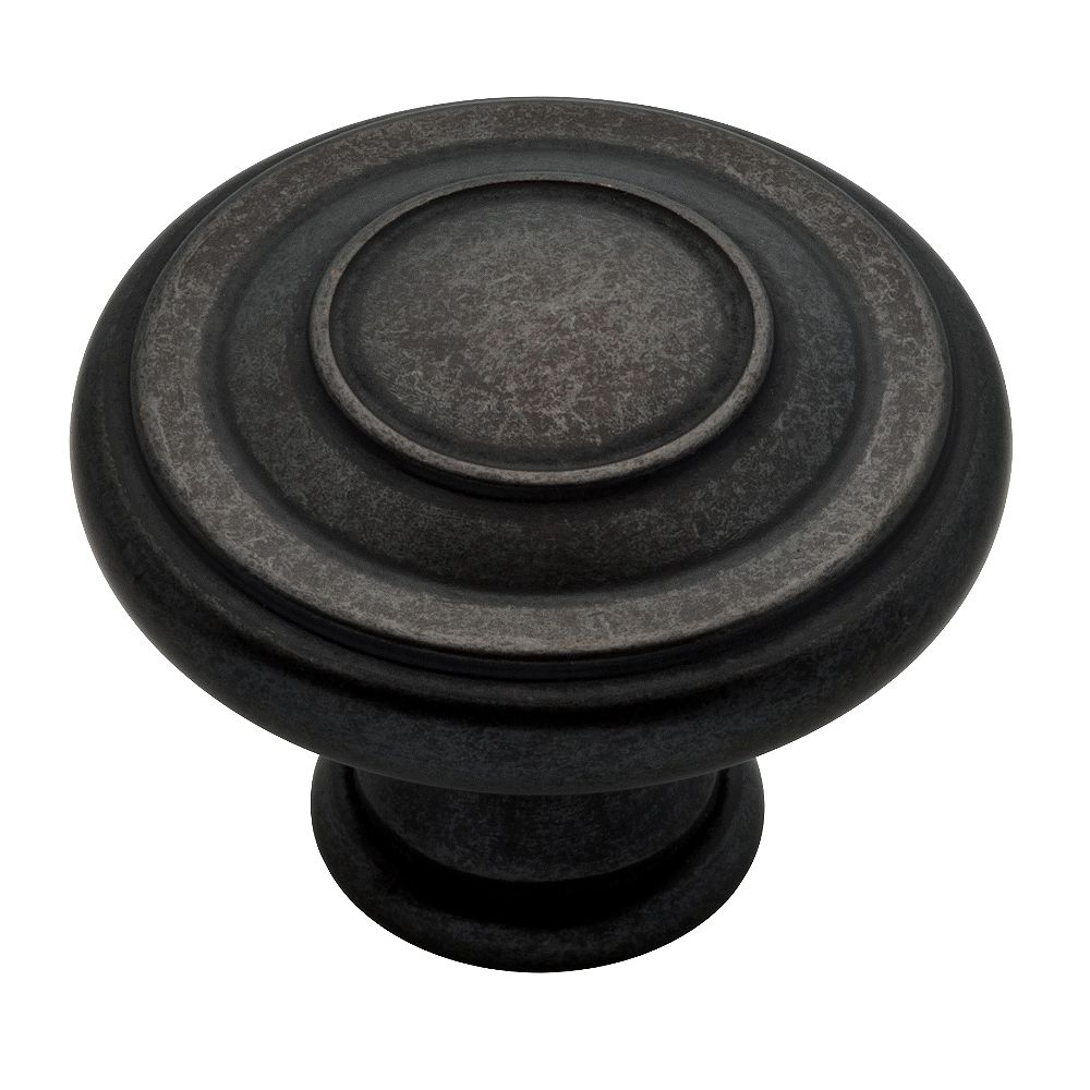 Peerless 1-3/8-inch Jackson Knob in Soft Iron, 10 per Package