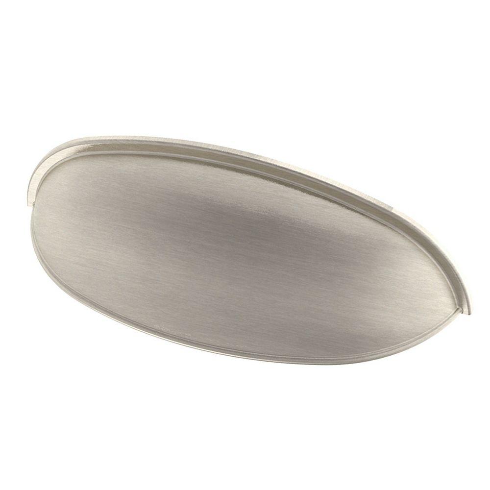 Peerless 2-1/2-inch or 3-inch Dual Mount Cup Pull in Satin Nickel, 2 per Package