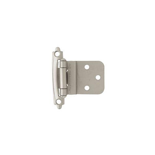 Charnière superposée à fermeture automatique de 3/8 po en nickel satiné, 2 par paquet
