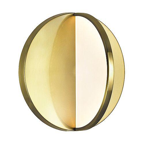 Tranche 10 po. LED Sconce avec laiton brossé