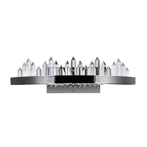 Agassiz LED Sconce avec fini nickel poli