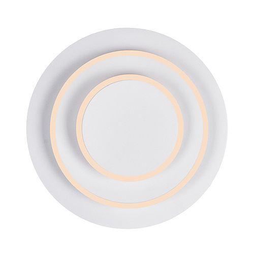 LED I privée 9 pouces Murale avec Matte Fini blanc