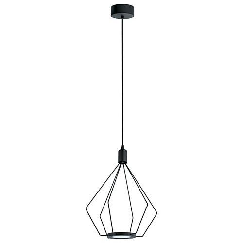 Cados LED Pendant Light, Black Finish with Black Shade