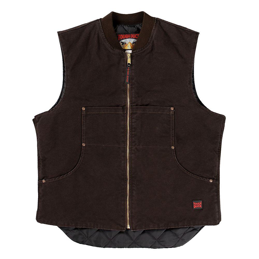 Tough Duck Quilt Lined Vest Dkbr S