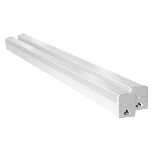 Luminaires DEL raccordables pour ateliers en blanc
