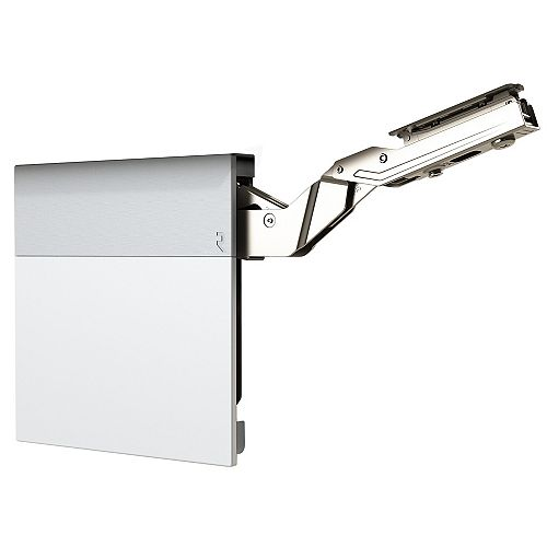 (1 Pair) +107° Lift-up hinge aiR System, Heavy duty Soft-Close Vertical hinge, Silk White/Dust Gray