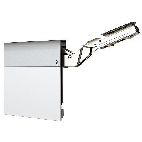 (1 Pair) +107° Lift-up hinge aiR System, Medium duty Soft-Close Vertical hinge, Silk White/Dust Gray