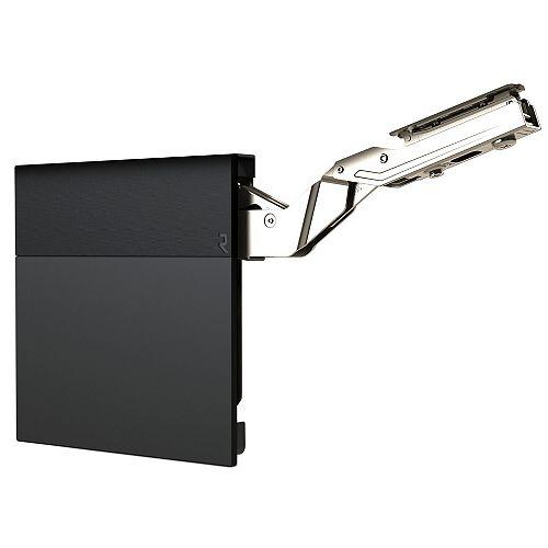 (1 Pair) +107° Lift-up hinge aiR System, Medium duty Soft-Close Vertical opening hinge, Black