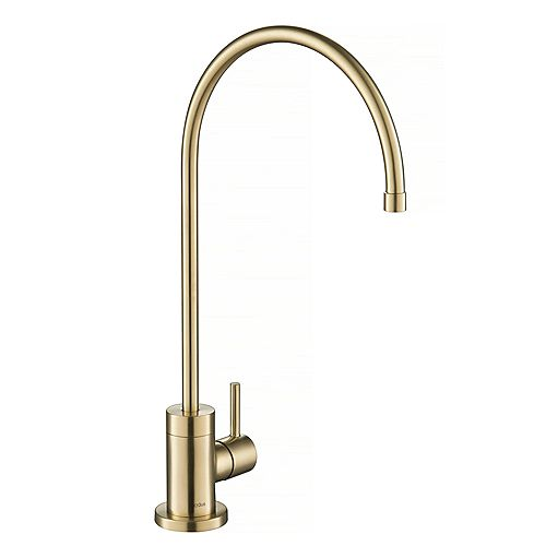 Purita 100% Lead-Free Kitchen Water Filter Faucet in Spot Free Antique Champagne Bronze