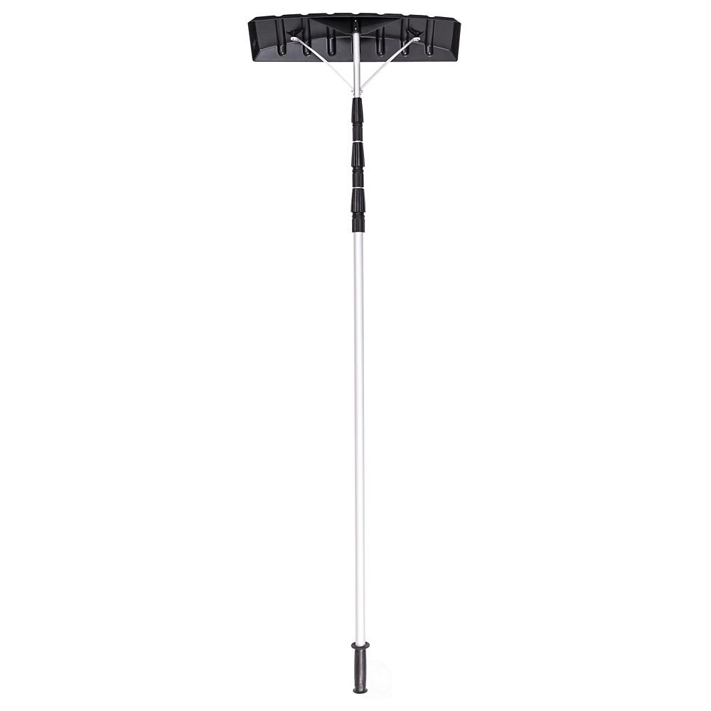 Gardenised Snow Rake Shovel for Roof Cleaning, with 21 Feet Twist-N-Lock Extendable Lightweight Aluminum Handle