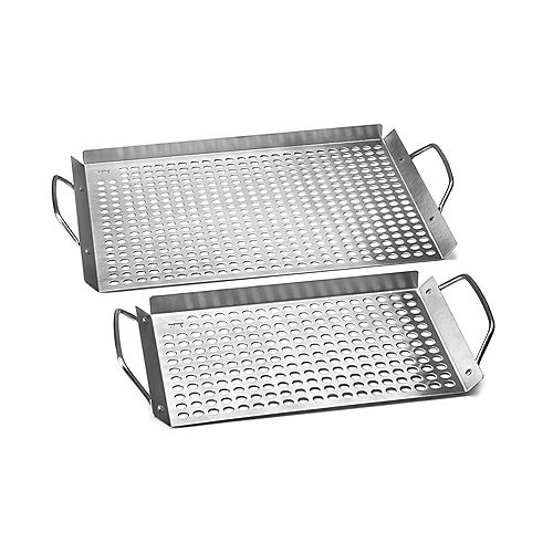 Outset Stainless Steel Grill Topper Grid, Set of 2