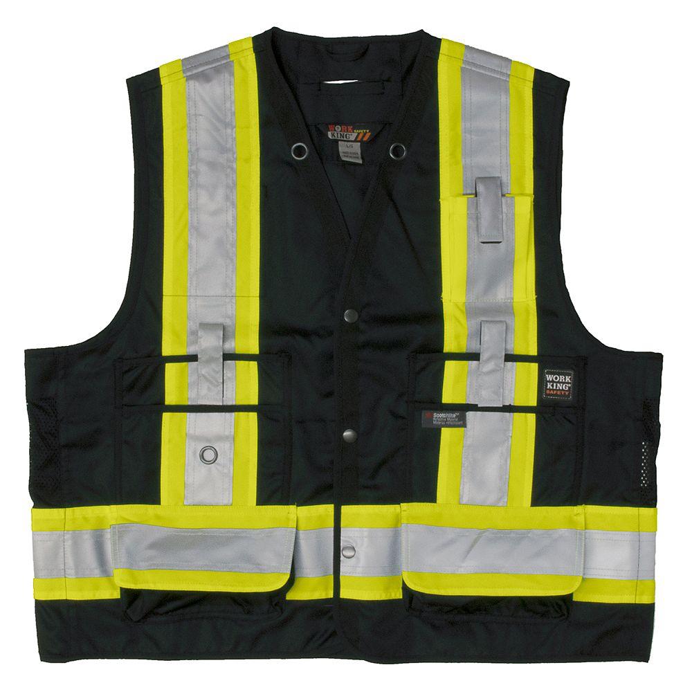 Tough Duck Surveyor Safety Vest Blk L