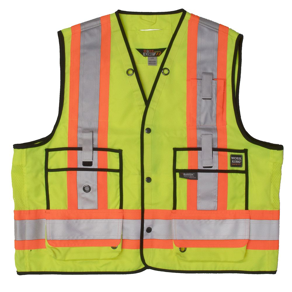 Tough Duck Surveyor Safety Vest Flgr 3Xl