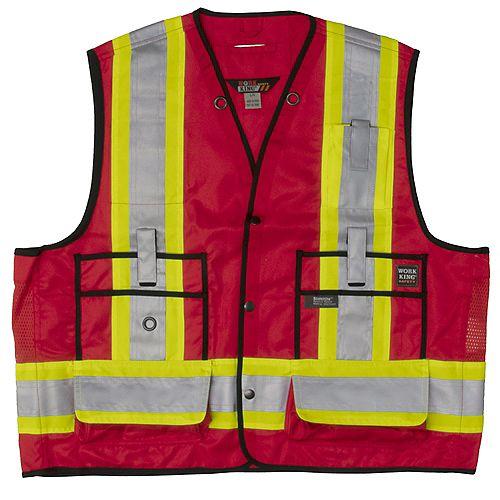 Surveyor Safety Vest Red S