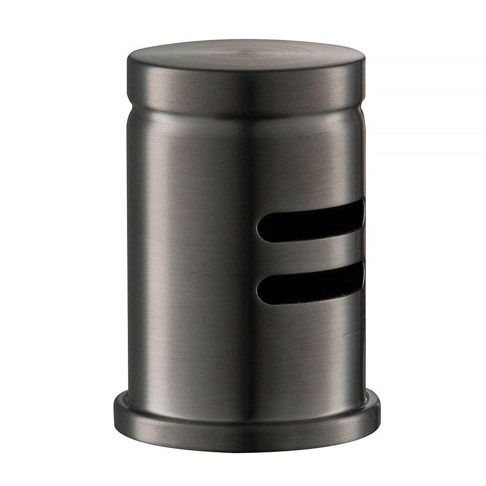 Kraus Flat Top Dishwasher Air Gap in Spot Free Black Stainless