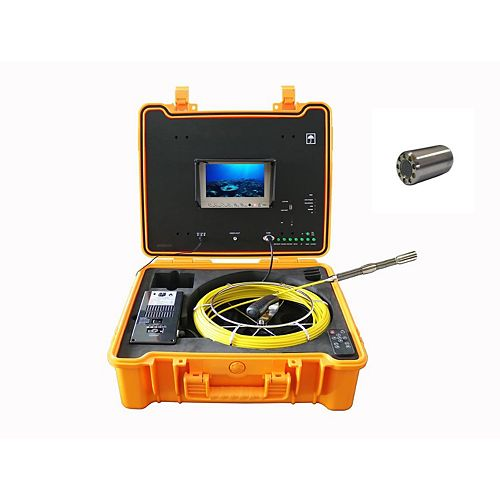 Forbest 130 FT Color Sewer/Drain/Pipe Inspection Camera W/ Self Leveling and 512Hz Sonde Transmitter