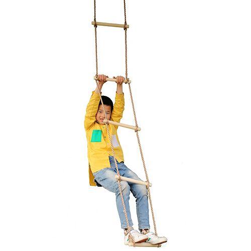5 Étape Escalade échelle de corde en bois