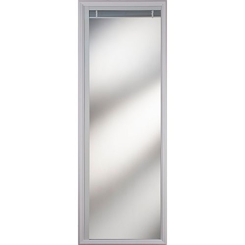 Light-Touch Enclosed Blinds Low-E Door Glass 20 in. x 64 in. x 1 in. with White Frame