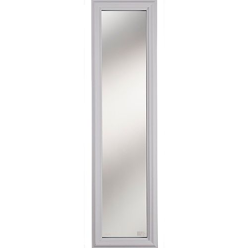 1 Lite Clear Low-E Glass 8 in. x 36 in. x 1 in. Sidelight with White Frame