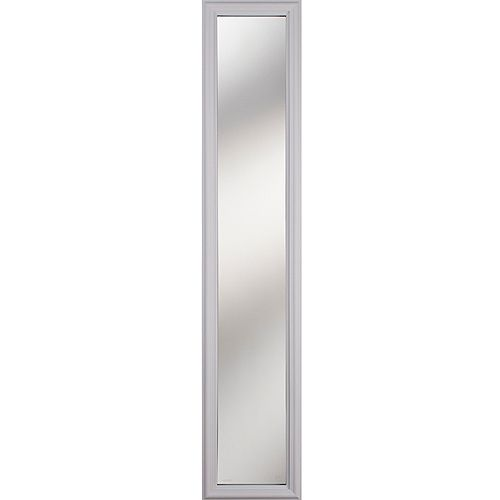 1 Lite Clear Low-E Glass 8 in. x 48 in. x 1 in. Sidelight with White Frame