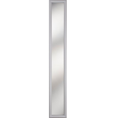 1 Lite Clear Low-E Glass 8 in. x 64 in. x 1 in. Sidelight with White Frame
