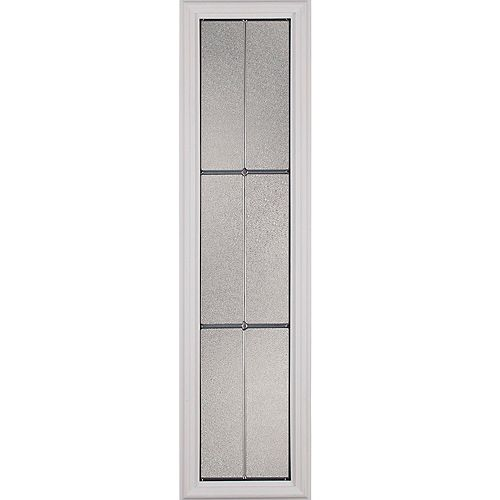 Parkway Low-E Argon Glass with Nickel Caming 8 in. x 36 in. x 1 in. Sidelight with White