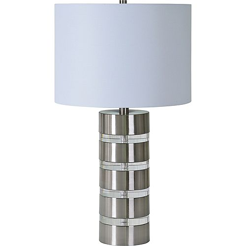 Notre Dame Design Sonny 25-inch Table Lamp with Off White Cotton Shade