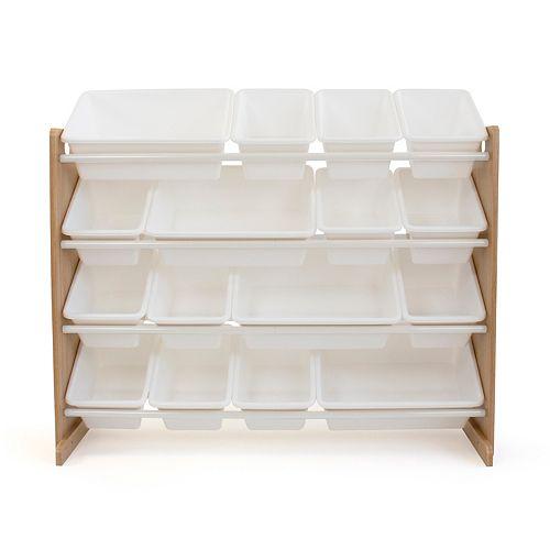 Kids Natural Super Sized Toy Storage Organizer with 16 Storage Bins