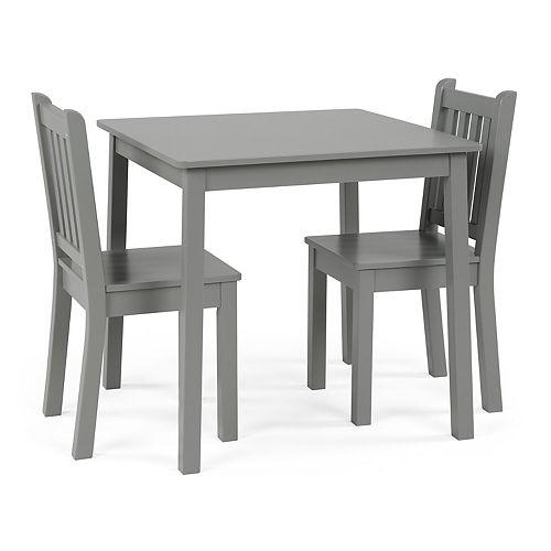 Grey Big Kids Wood Table and 4 Chair Set