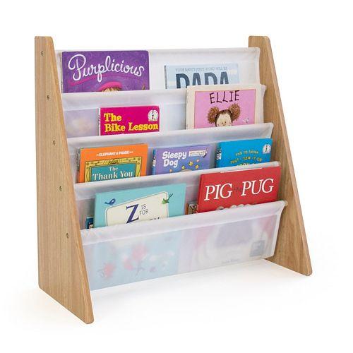 Kids Natural Bookshelf 4 Tier Book Organizer