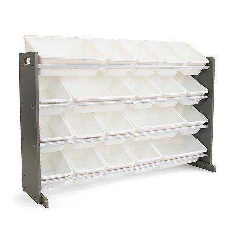 XL GreyToy Storage Organizer with 20 Storage Bins