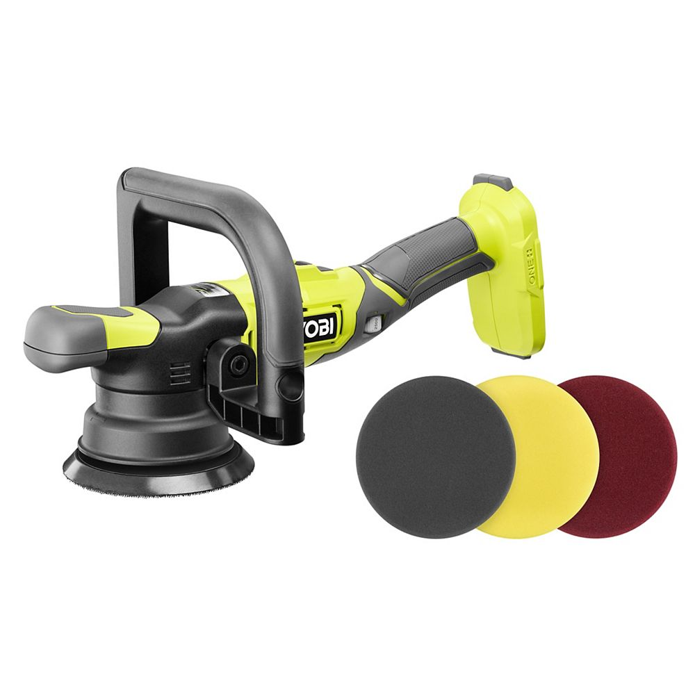 RYOBI 18V ONE+ 5-inch Variable Speed Dual Action Polisher (Tool-Only)