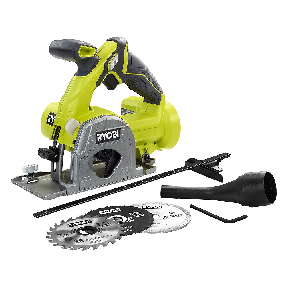 RYOBI 18V ONE+ Cordless 3-3/8-inch Multi-Material Plunge Saw (Tool-Only)