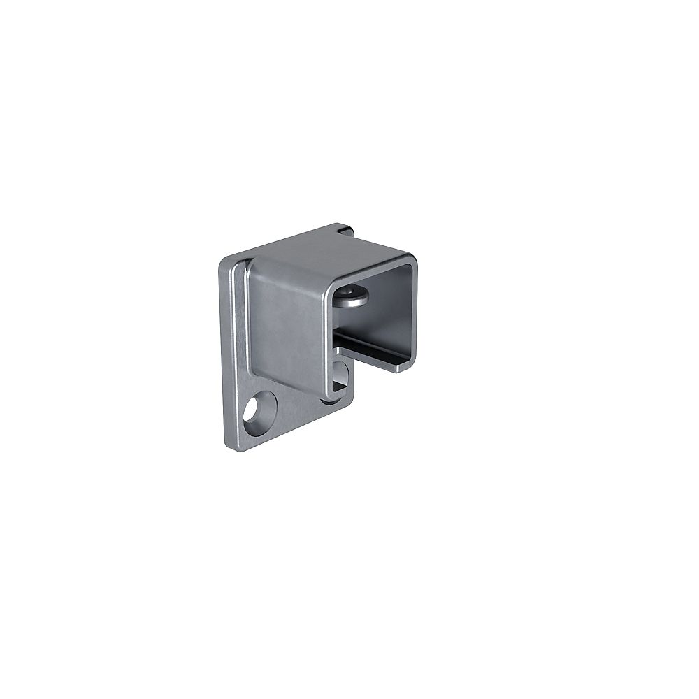 Peak Products MountainView Glass Deck Railing End Bracket in Brushed Stainless Steel