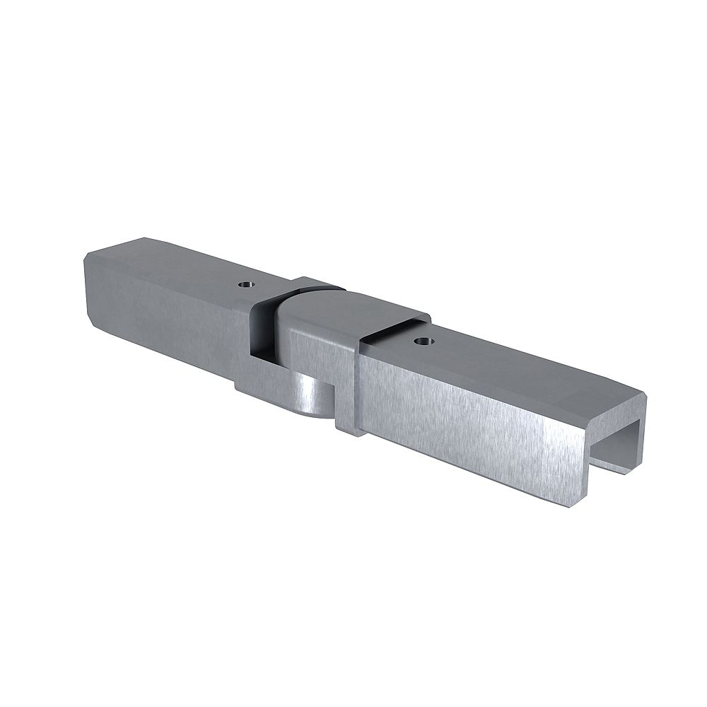 Peak Products MountainView Glass Deck Railing Angle Bracket in Brushed Stainless Steel