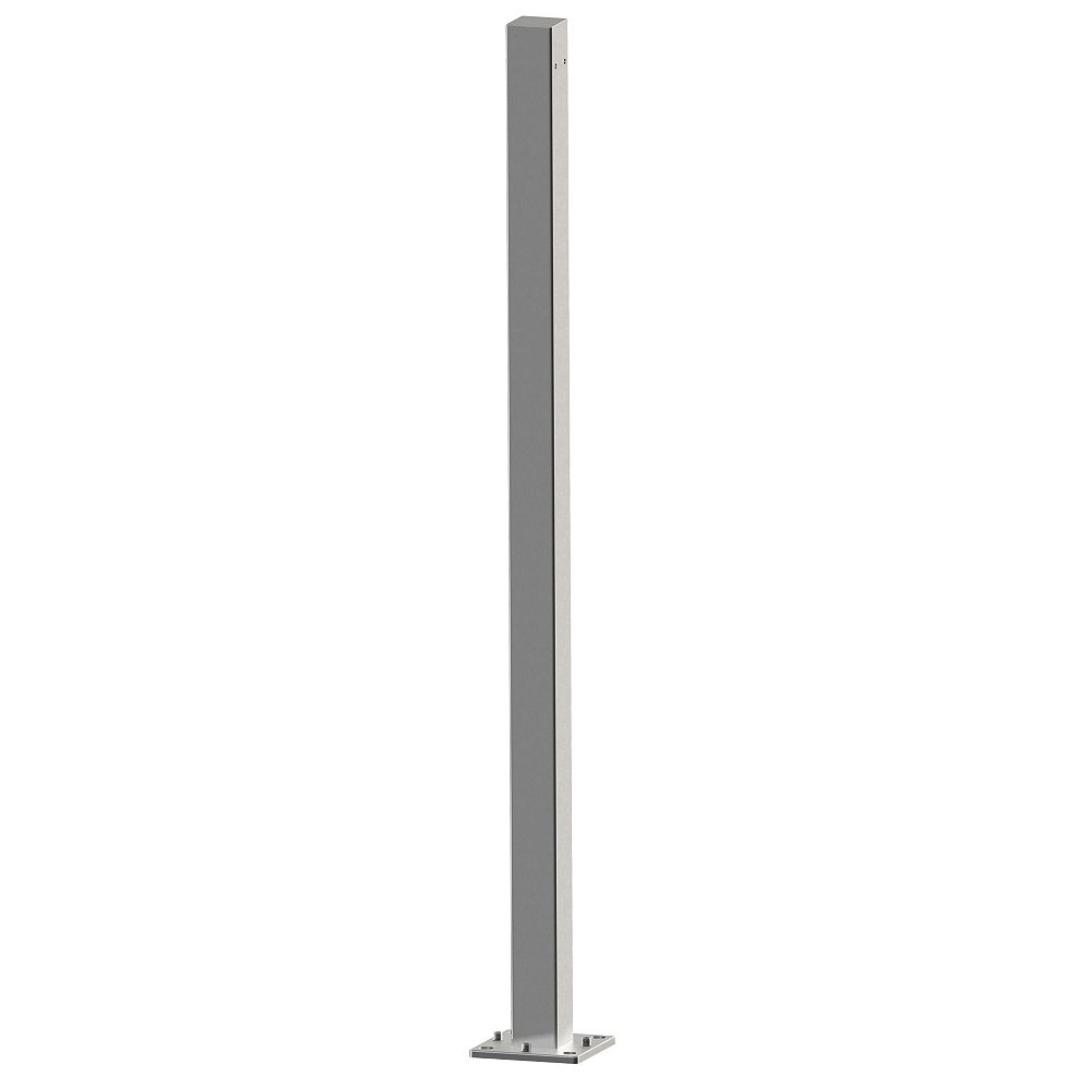 Peak Products MountainView Glass Deck Railing 42-inch Post in Brushed Stainless Steel