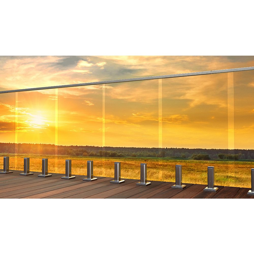 Peak Products MountainView 24-inch W Tempered Railing Glass Panel