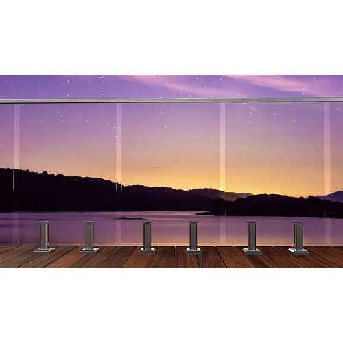 Peak Products MountainView 27-inch W Tempered Railing Glass Panel