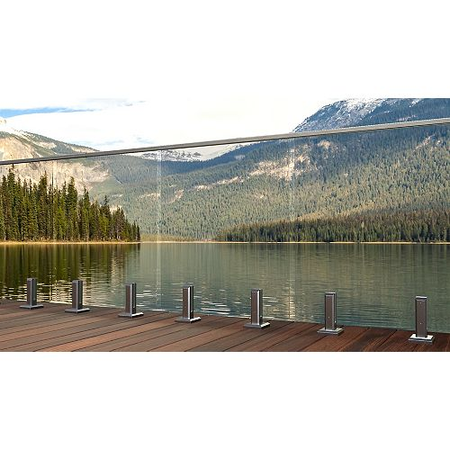 MountainView 33-inch W Tempered Railing Glass Panel