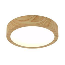 Dryad 10.4-inch Wood Flush Mount Light Fixture