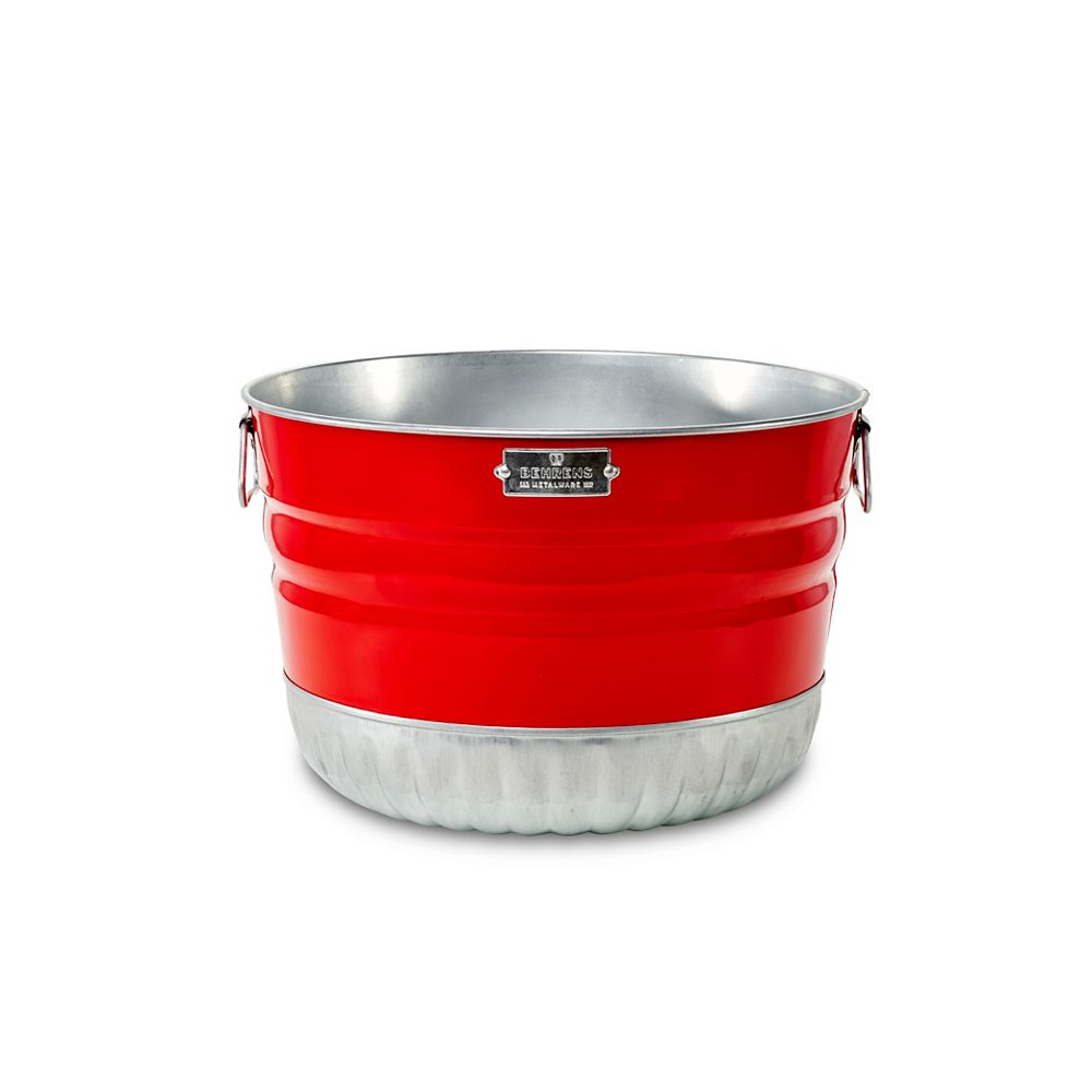 Behrens Painted Steel Bushel Basket, Red $9.98