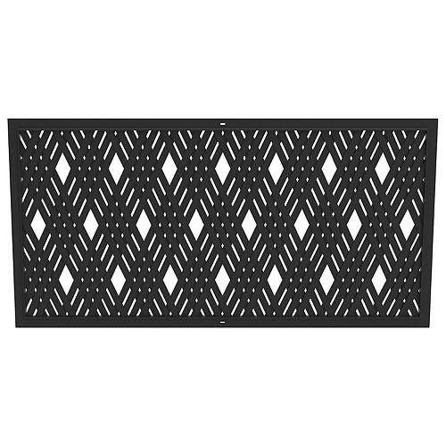 24-inch x 48-inch Lattice Black Wall Decor Panel