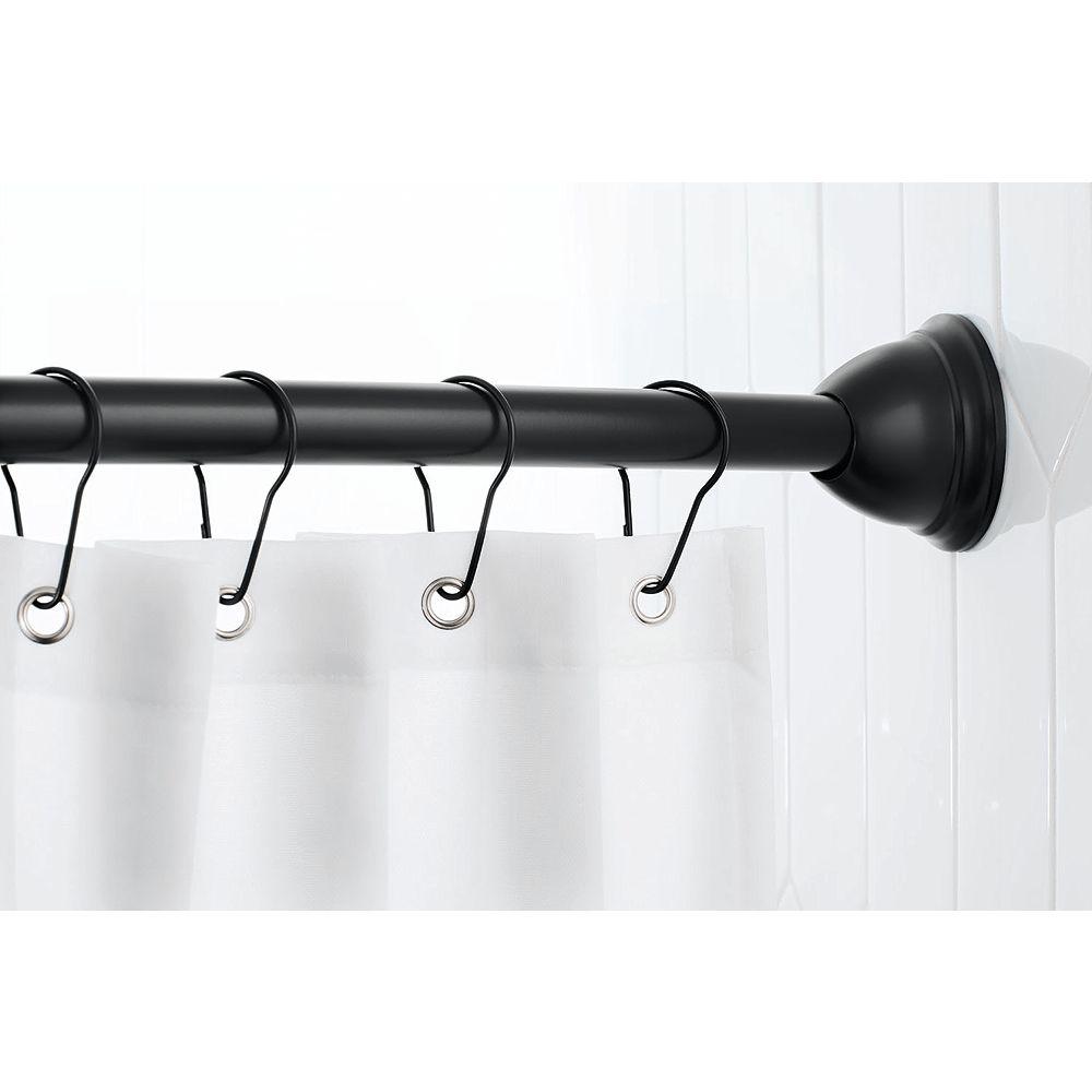 MOEN Tringle de douche incurvée dotée du concept MagnetixMC- Noir Mat