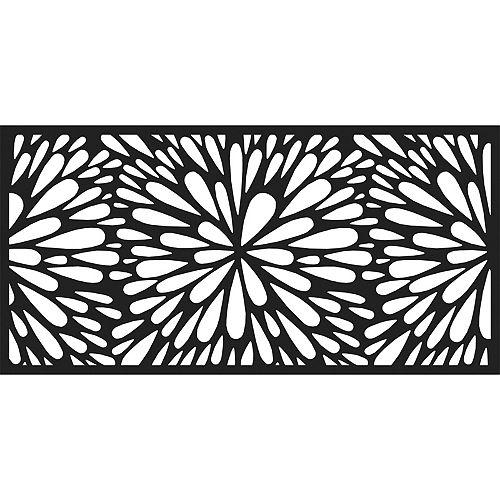 4 ft. W x 2 ft. H Starburst Decorative Resin Screen in Black