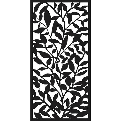 3 ft. W x 6 ft. H Foliage Screen in Black