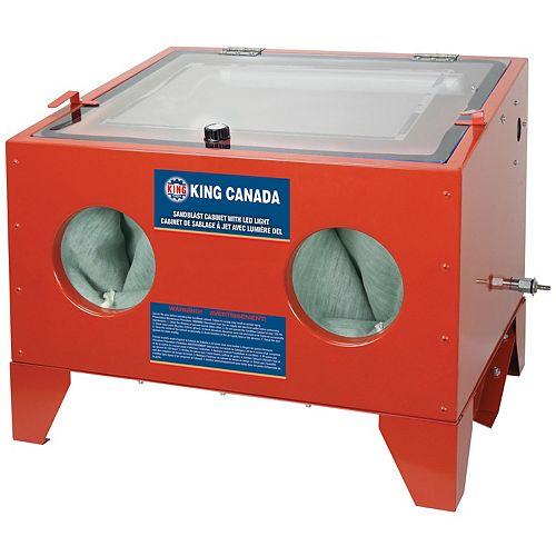 Cabinet de sablage à Jet avec lumière DEL