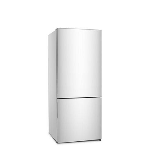 28 pouces W 15 cu. Réfrigérateur à congélateur dans le bas en Blanc, profondeur du comptoir