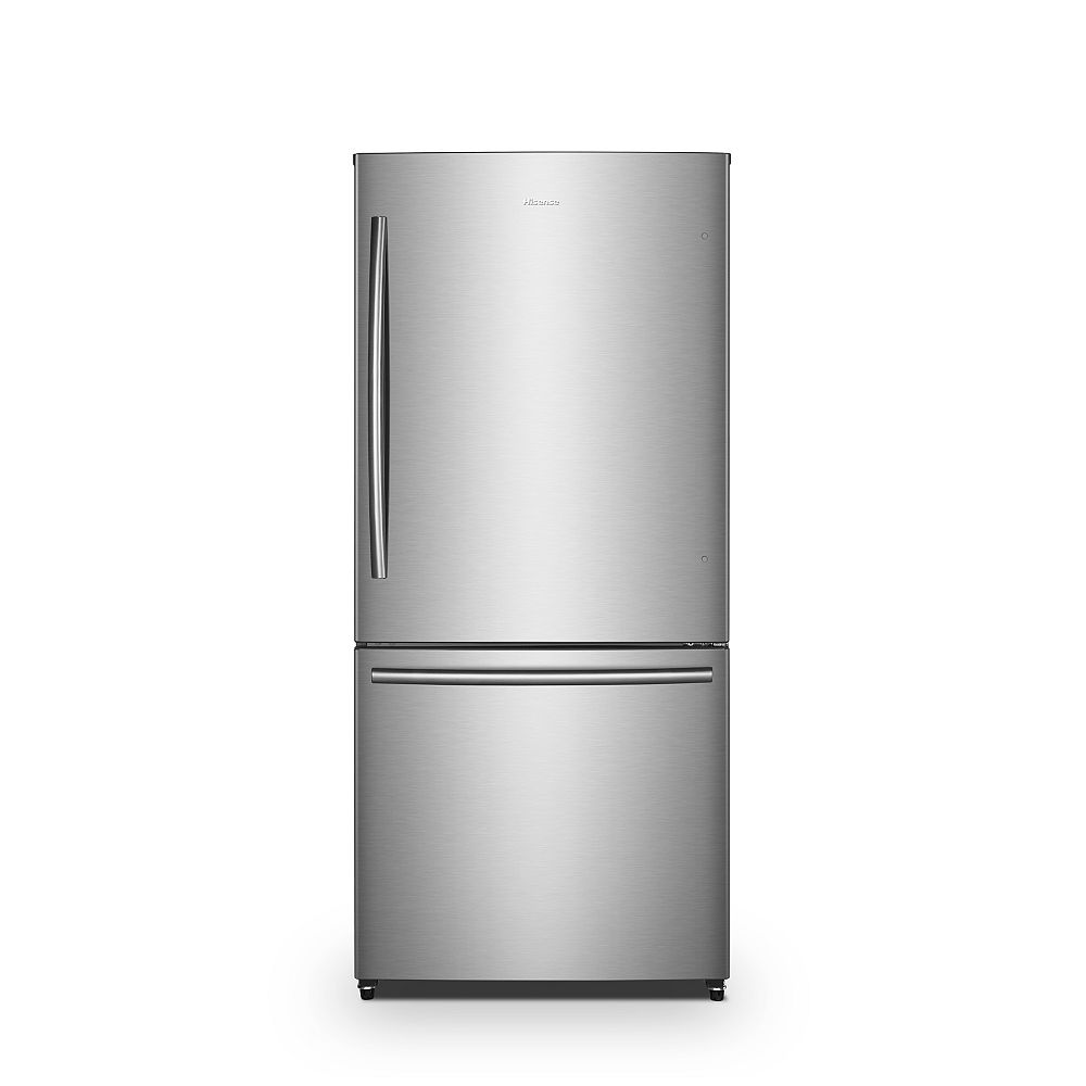 Hisense 31-inch W 17 cu. ft. Bottom Freezer Refrigerator in Stainless Steel, Counter-Depth