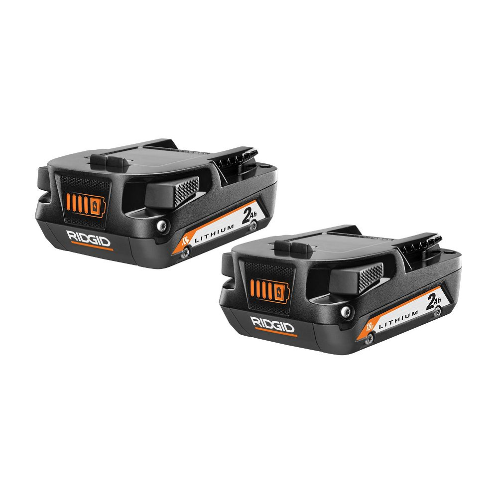RIDGID 18V 2.0Ah Lithium-Ion Battery (2-pack)